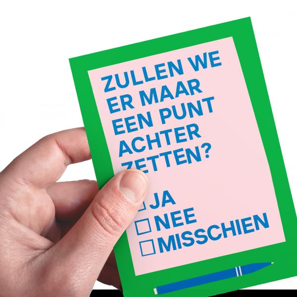 Postkaart Hoe doen we dat met Kerst Auke Triesschijn